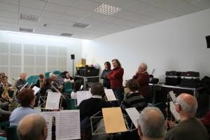 L'après-midi, travail avec l'orchestre
