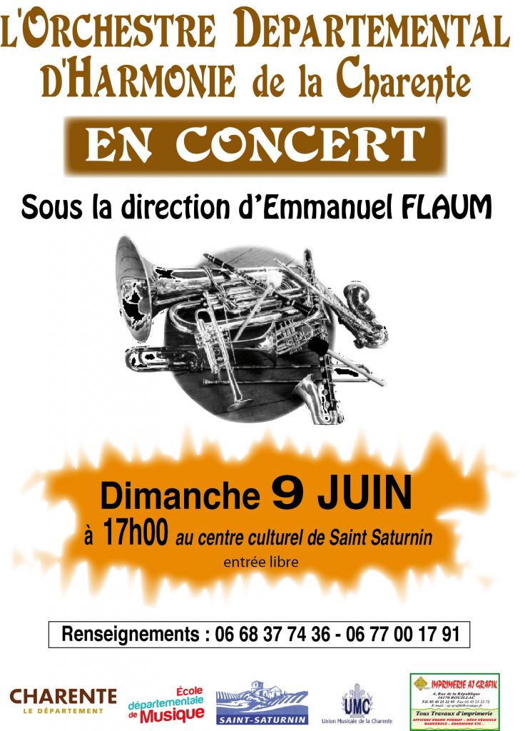 affiche concert 9 JUIN ODHC